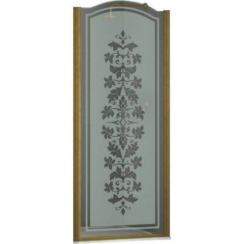 Душевая дверь в нишу Sturm Schick 90 см decor bronze R