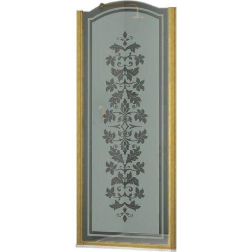 Душевая дверь в нишу Sturm Schick 90 см L decor gold