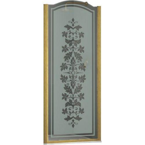 Душевая дверь в нишу Sturm Schick 90 см R decor gold