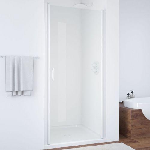 Душевая дверь в нишу Vegas Glass EP 60 01 01 профиль белый, стекло прозрачное