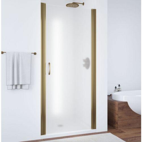Душевая дверь в нишу Vegas Glass EP 60 05 10 профиль бронза, стекло сатин