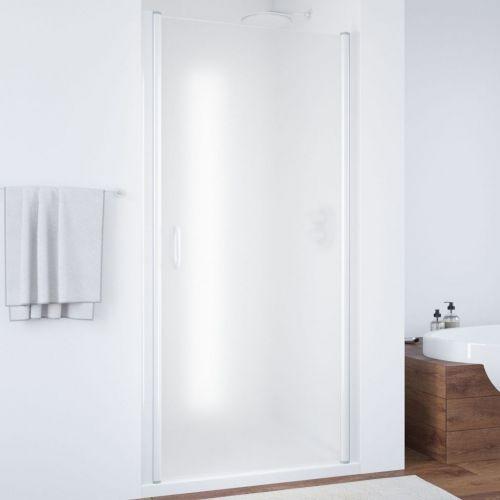 Душевая дверь в нишу Vegas Glass EP 70 01 10 профиль белый, стекло сатин
