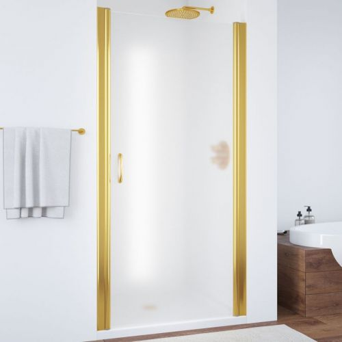 Душевая дверь в нишу Vegas Glass EP 70 09 10 профиль золото, стекло сатин