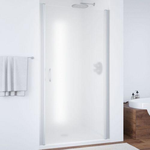 Душевая дверь в нишу Vegas Glass EP 80 07 10 профиль матовый хром, стекло сатин