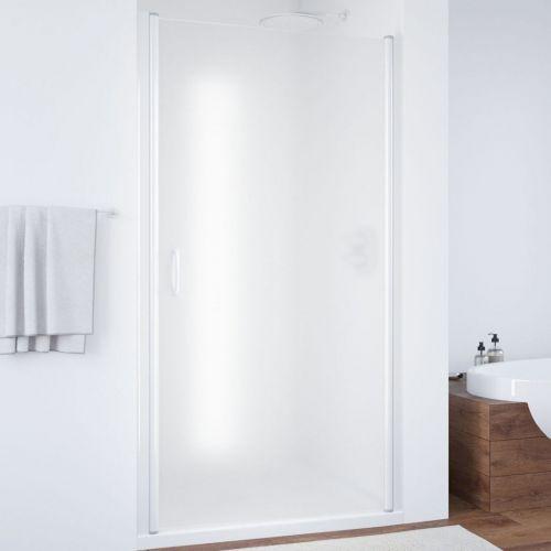 Душевая дверь в нишу Vegas Glass EP 95 01 10 профиль белый, стекло сатин