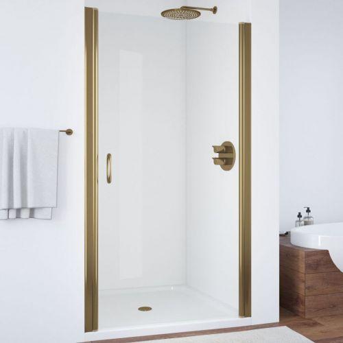 Душевая дверь в нишу Vegas Glass EP 95 05 01 профиль бронза, стекло прозрачное
