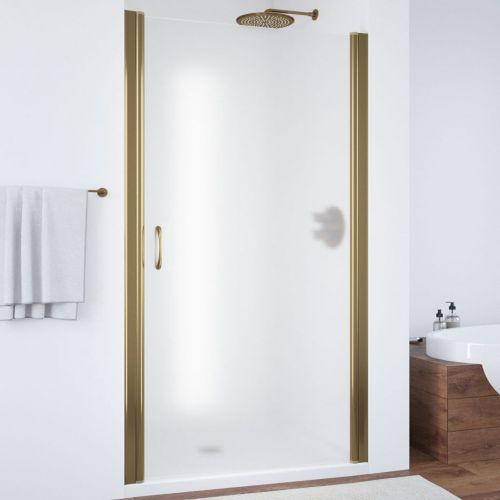 Душевая дверь в нишу Vegas Glass EP 95 05 10 профиль бронза, стекло сатин