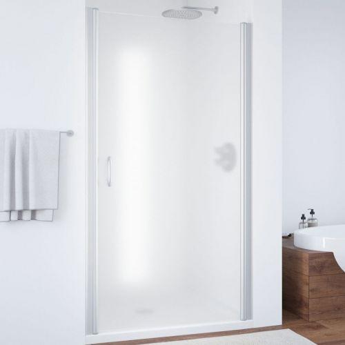 Душевая дверь в нишу Vegas Glass EP 95 07 10 профиль матовый хром, стекло сатин