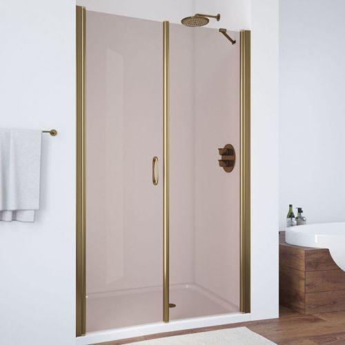Душевая дверь в нишу Vegas Glass EP-F-2 115 05 05 L профиль бронза, стекло бронза