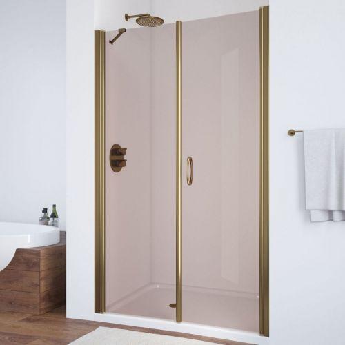 Душевая дверь в нишу Vegas Glass EP-F-2 115 05 05 R профиль бронза, стекло бронза