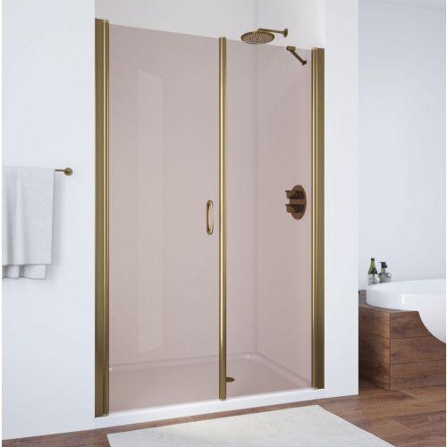 Душевая дверь в нишу Vegas Glass EP-F-2 125 05 05 L профиль бронза, стекло бронза