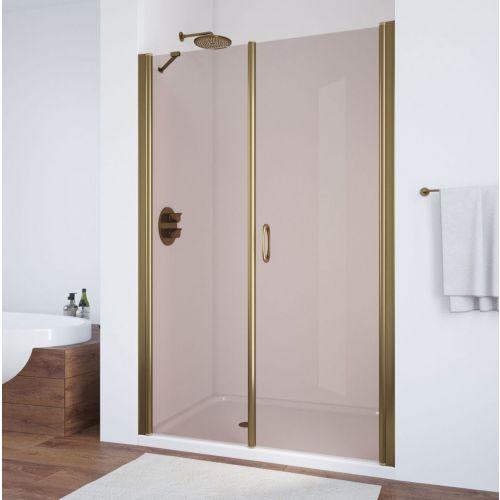 Душевая дверь в нишу Vegas Glass EP-F-2 125 05 05 R профиль бронза, стекло бронза