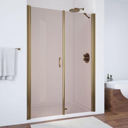 Душевая дверь в нишу Vegas Glass EP-F-2 130 05 05 L профиль бронза, стекло бронза