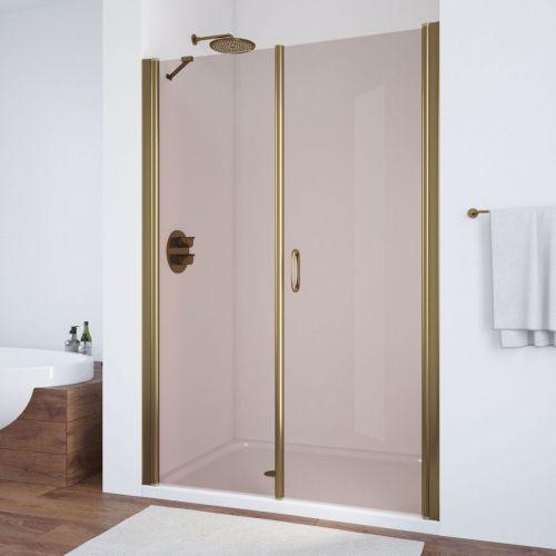 Душевая дверь в нишу Vegas Glass EP-F-2 130 05 05 R профиль бронза, стекло бронза