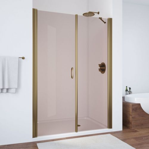 Душевая дверь в нишу Vegas Glass EP-F-2 145 05 05 L профиль бронза, стекло бронза