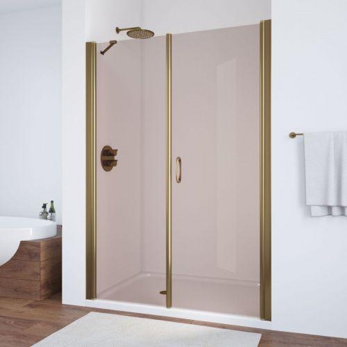 Душевая дверь в нишу Vegas Glass EP-F-2 150 05 05 R профиль бронза, стекло бронза