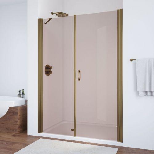Душевая дверь в нишу Vegas Glass EP-F-2 155 05 05 R профиль бронза, стекло бронза