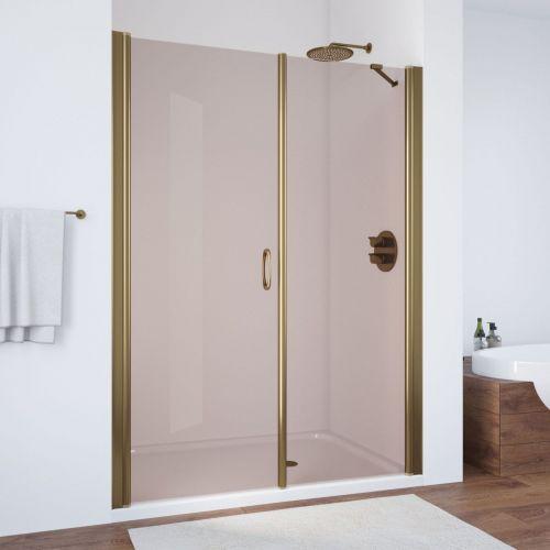 Душевая дверь в нишу Vegas Glass EP-F-2 170 05 05 L профиль бронза, стекло бронза