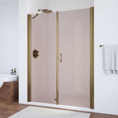 Душевая дверь в нишу Vegas Glass EP-F-2 170 05 05 R профиль бронза, стекло бронза