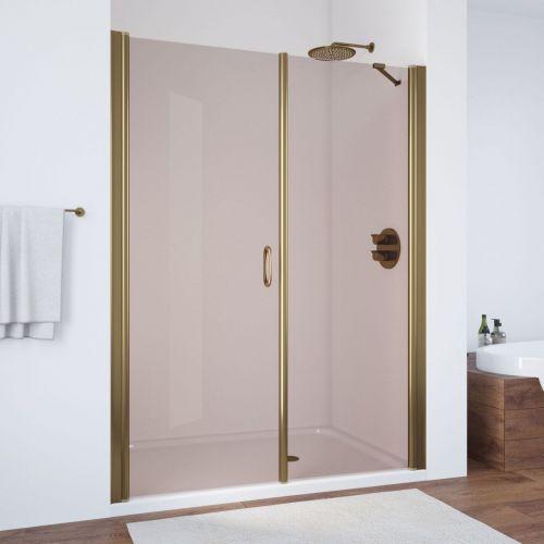 Душевая дверь в нишу Vegas Glass EP-F-2 180 05 05 L профиль бронза, стекло бронза