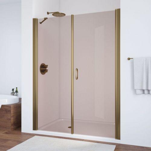 Душевая дверь в нишу Vegas Glass EP-F-2 180 05 05 R профиль бронза, стекло бронза