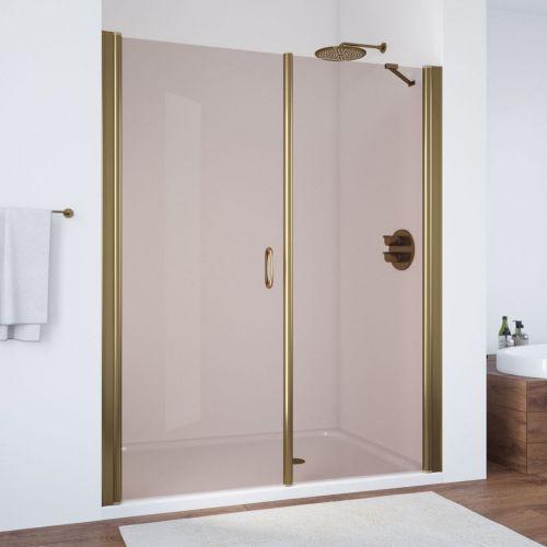 Душевая дверь в нишу Vegas Glass EP-F-2 185 05 05 L профиль бронза, стекло бронза