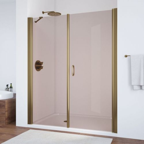 Душевая дверь в нишу Vegas Glass EP-F-2 185 05 05 R профиль бронза, стекло бронза