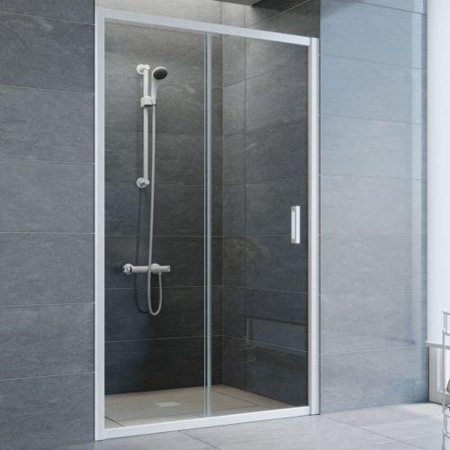 Душевая дверь в нишу Vegas Glass ZP 110 01 01 профиль белый, стекло прозрачное