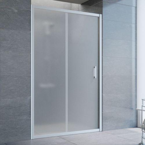 Душевая дверь в нишу Vegas Glass ZP 125 07 10 профиль матовый хром, стекло сатин