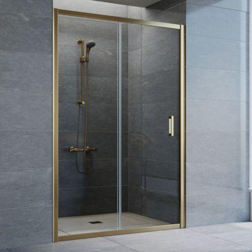 Душевая дверь в нишу Vegas Glass ZP 130 05 01 профиль бронза, стекло прозрачное