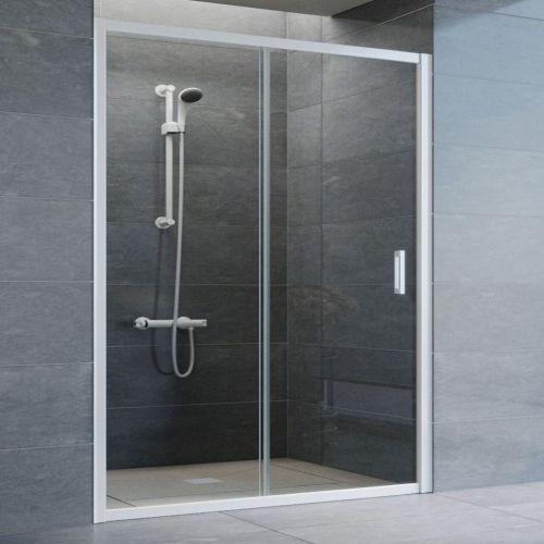 Душевая дверь в нишу Vegas Glass ZP 150 01 01 профиль белый, стекло прозрачное