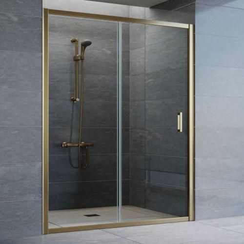 Душевая дверь в нишу Vegas Glass ZP 150 05 01 профиль бронза, стекло прозрачное