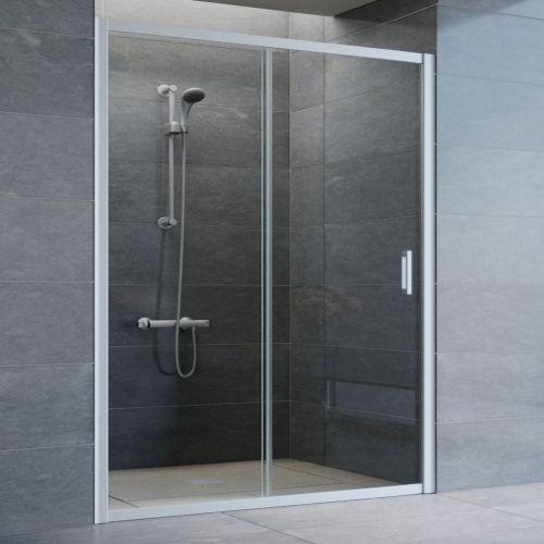 Душевая дверь в нишу Vegas Glass ZP 150 07 01 профиль матовый хром, стекло прозрачное