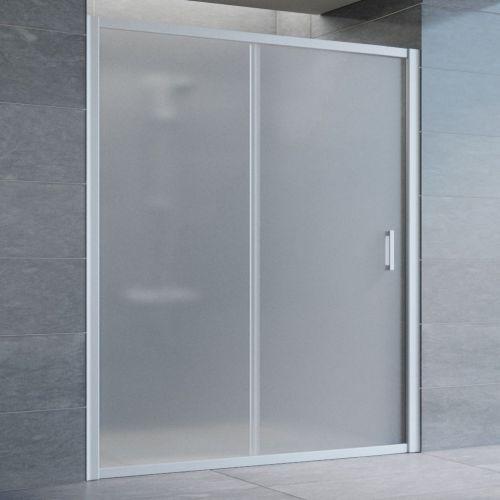 Душевая дверь в нишу Vegas Glass ZP 160 07 10 профиль матовый хром, стекло сатин