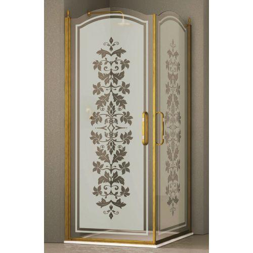 Душевой уголок Sturm Eleganz 100 gold декор