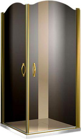Душевой уголок Sturm Eleganz 100 gold тонированное