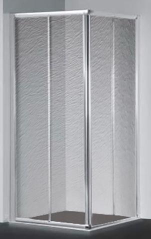 Душевой уголок RGW Classic CL-42 (865-890)x(965-990)x1850 профиль хром, стекло шиншилла