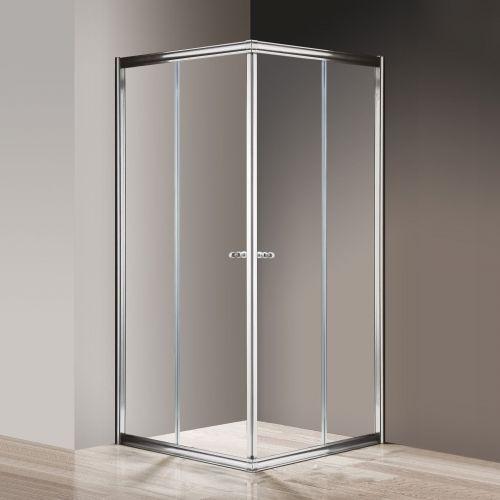 Душевой уголок Cezares Giubileo-A-2-100 прозрачное стекло, хром