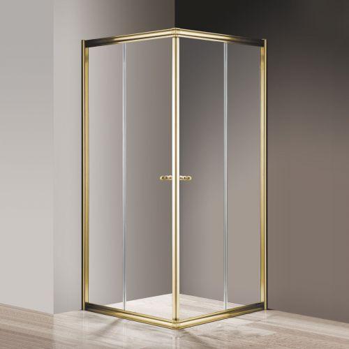 Душевой уголок Cezares Giubileo-A-2-100 прозрачное стекло, золото