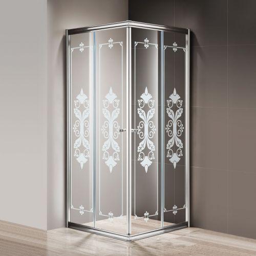 Душевой уголок Cezares Giubileo-A-2-80 стекло с узором, хром