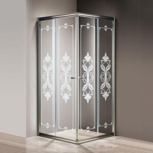 Душевой уголок Cezares Giubileo-A-2-90 стекло с узором, бронза