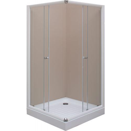 Душевой уголок De Aqua K100100OP-W 100х100, стекло прозрачное
