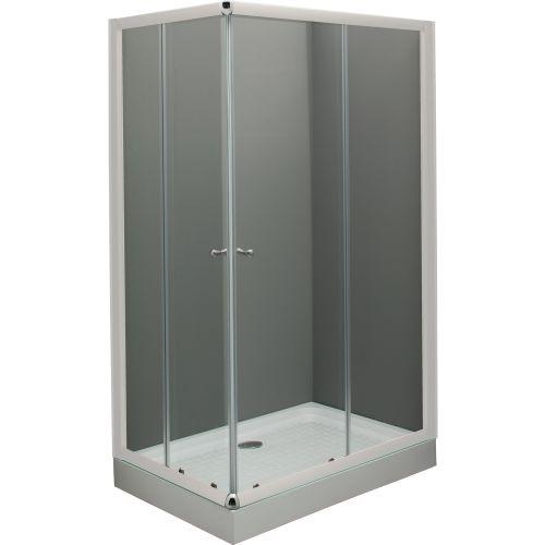 Душевой уголок De Aqua K12080OP-W 120х80, стекло прозрачное