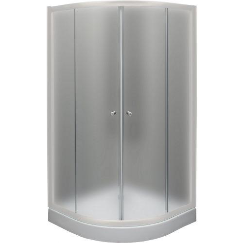 Душевой уголок De Aqua R100100MT-W 100х100, стекло матовое