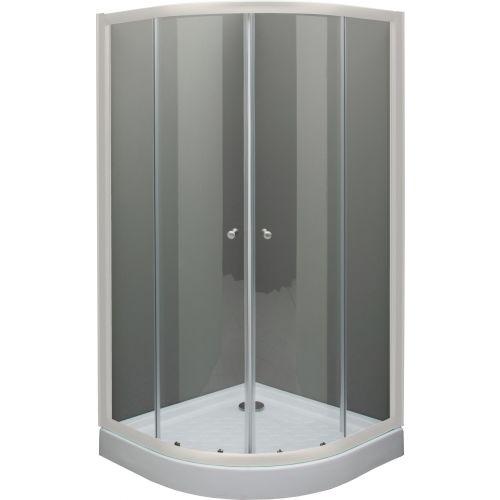 Душевой уголок De Aqua R100100OP-W 100х100, стекло прозрачное