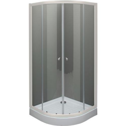 Душевой уголок De Aqua R8080OP-W 80х80, стекло прозрачное