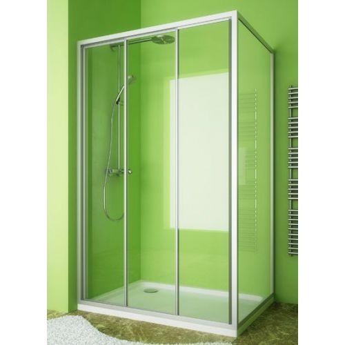 Душевой уголок GuteWetter Practic Rectan GK-403 левая 120x80 см стекло бесцветное, профиль матовый хром