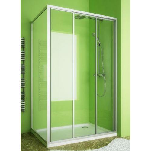 Душевой уголок GuteWetter Practic Rectan GK-403 правая 120x80 см стекло бесцветное, профиль матовый хром