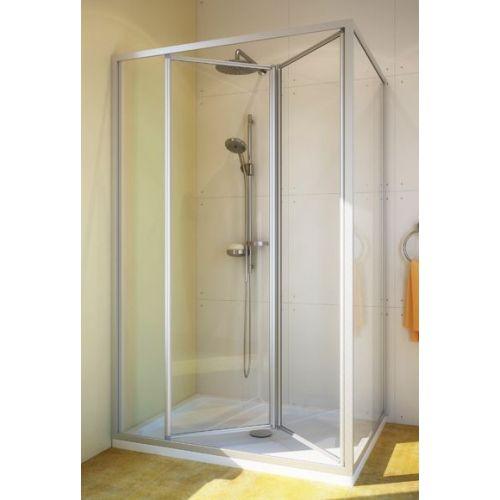 Душевой уголок GuteWetter Practic Rectan GK-404 левая 120x80 см стекло бесцветное, профиль матовый хром