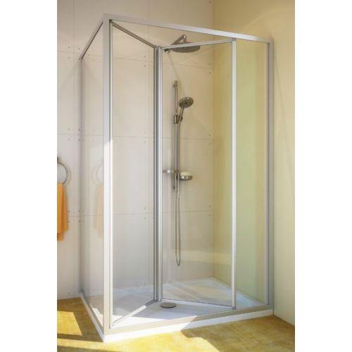 Душевой уголок GuteWetter Practic Rectan GK-404 правая 120x80 см стекло бесцветное, профиль матовый хром